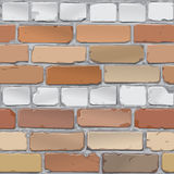 Brick wall. Brick gray, red. Background.Vector. Vector image of old brick wall Royalty Free Stock Photo