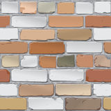 Brick wall. Brick gray, red. Background. Vector. Old bricklaying. Red and gray brick Royalty Free Stock Image