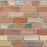 Brick wall. Brick old, red. Background. Vector. Old brick wall of red brick Royalty Free Stock Images