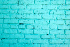 Brick wall. The brick wall painted in blue. Royalty Free Stock Photography