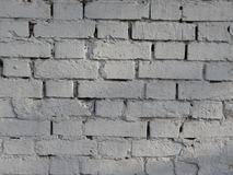 Brick wall Brick wall painted in white Royalty Free Stock Image