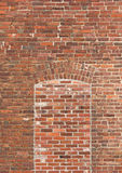 Brick wall with bricked window Stock Images