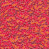 Brick wall broken (seamless vector wallpaper) Royalty Free Stock Image