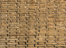 Brick Wall. Brown old brick wall, a horizontal location, Rome, Italy Stock Photo