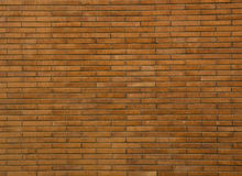 Brick Wall. Brown-orange brick wall, horizontal location, Rome, Itali Stock Photo
