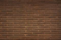 Brick wall, built of flat bricks Stock Images