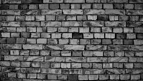 Brick wall built with mud. Black and white photography of brick wall built with mud Royalty Free Stock Photo