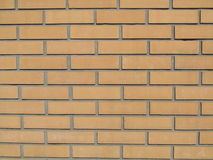 Brick. Wall built of red brick Stock Photography