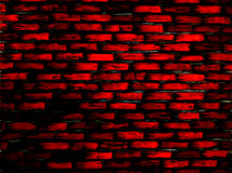 Brick Wall Burgundy Graphic. Red black brick wall. You can see cement, grout between bricks. Great for wallpaper, pattern Stock Photos