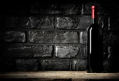 Brick wall and cabernet Royalty Free Stock Image