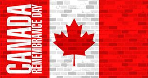 Brick wall canada remembrance day flag Royalty Free Stock Photos