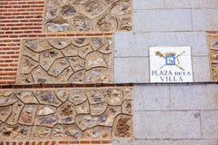 Brick Wall Casa de Cisneros Plaza de la Villa Madrid Spain Royalty Free Stock Photo