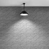 Brick wall and ceiling lamp Royalty Free Stock Image