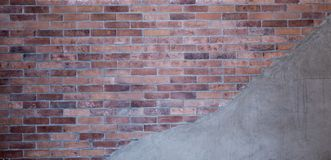 Brick Wall and Cement Wall Background and Texture stock photo