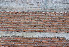 Brick wall and cement line Stock Photo