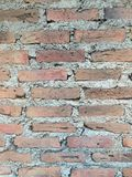 Brick wall. With cement structure stock photo