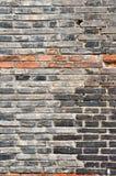 Brick wall. Chinese ancient black brick wall Stock Images