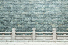 Brick wall. Chinese type green color brick wall Stock Images