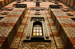 Brick wall church Stock Photography