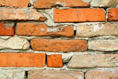Brick wall, close-up Stock Image