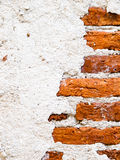 Brick wall. Close up old cracked brick wall background Royalty Free Stock Images