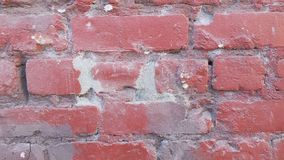 Brick wall. Close up of a red brick wall section Stock Photo