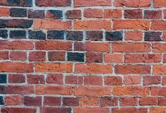 Old brick wall close-up photo. Vintage texture stock photography