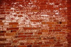 Brick wall close-up textured red color background. Red brick wall close-up textured background textured Royalty Free Stock Images