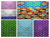 Brick Wall Collage Royalty Free Stock Photography