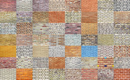 Brick wall collection stock photo