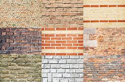 Brick wall collection Royalty Free Stock Images