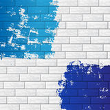 Brick wall with color Stock Image