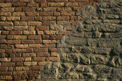 Brick wall color background red texture Stock Photography