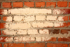 Brick wall with color frame Royalty Free Stock Photography