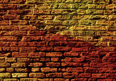 Brick wall with colorful pattern Royalty Free Stock Photo
