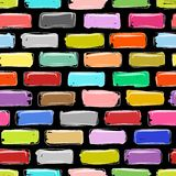 Brick wall colorful, sketch for your design Stock Image