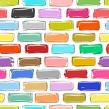 Brick wall colorful, sketch for your design Royalty Free Stock Images