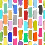 Brick wall colorful, sketch for your design Royalty Free Stock Image