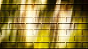 Brick wall computer generated with falling shades stock image