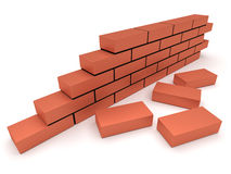 Brick wall. Concept of building and construction Royalty Free Stock Photography