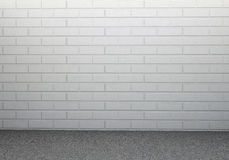 Brick wall and concrete floor Stock Images