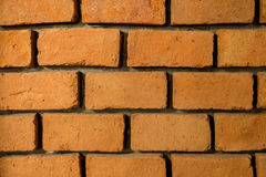 Brick wall. Wall construct from Red brick and cement Royalty Free Stock Photos