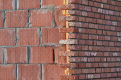 Brick wall construction Royalty Free Stock Photos