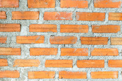 Brick wall construction  texture background. Brick during construction for wall Stock Photo