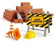 Brick wall construction Stock Image