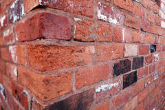 Brick wall corner Royalty Free Stock Photo