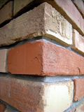 Brick Wall Corner Stock Image