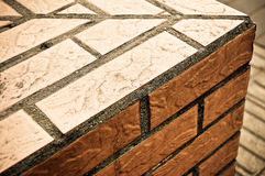 Brick Wall Corner Detail Stock Image