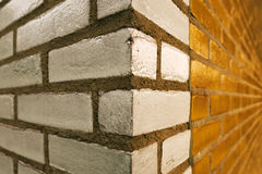 Brick wall corner Royalty Free Stock Image