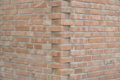 A brick wall corner Royalty Free Stock Photo